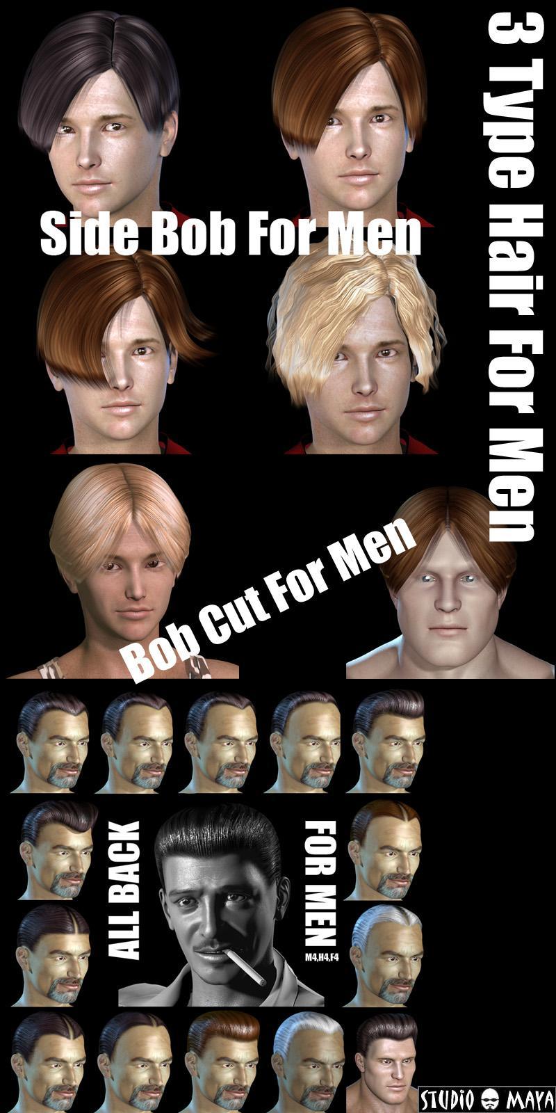 3Type Hair For Men