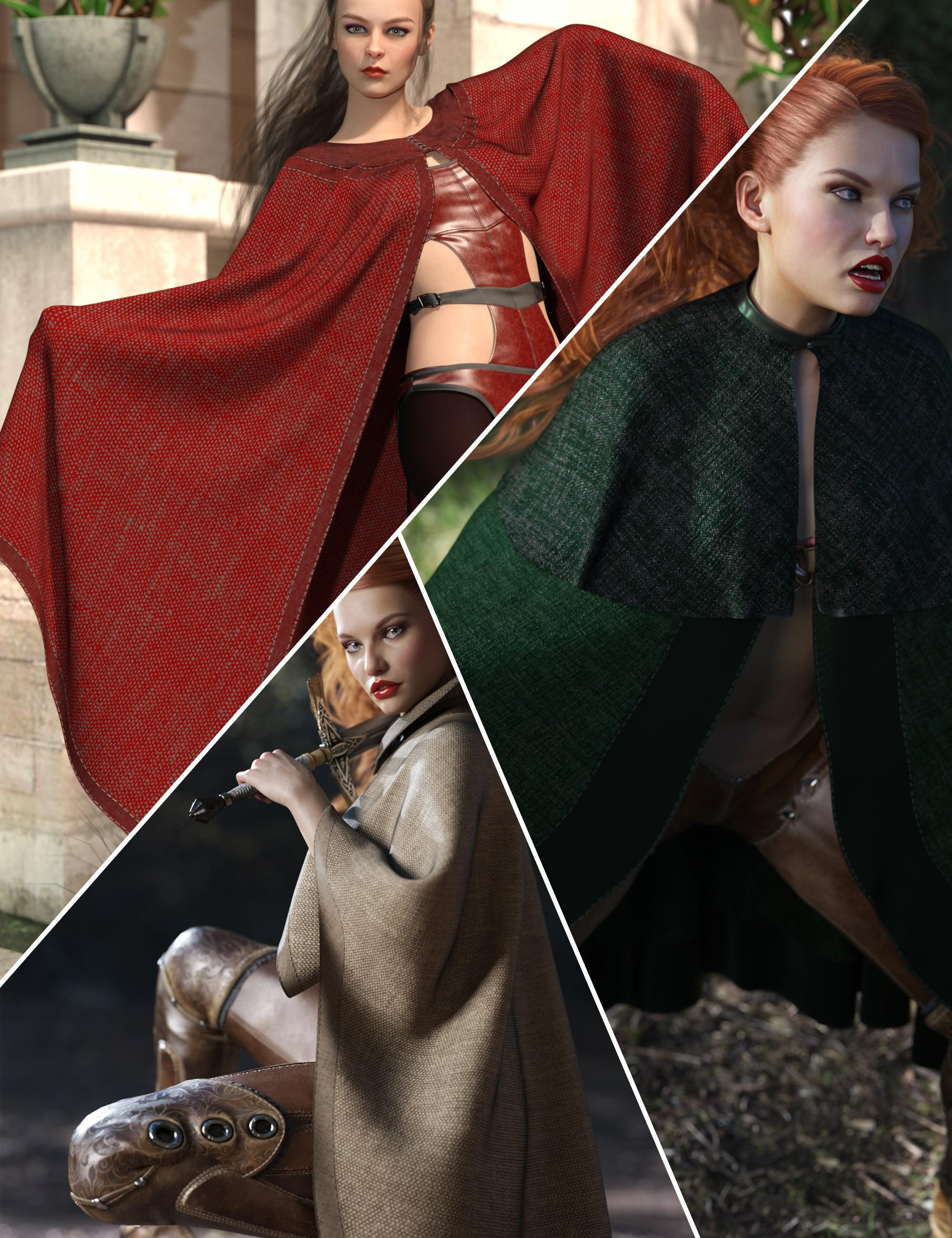 dForce High Fantasy Cloaks - Volume 2 - for Genesis 8 Female(s)