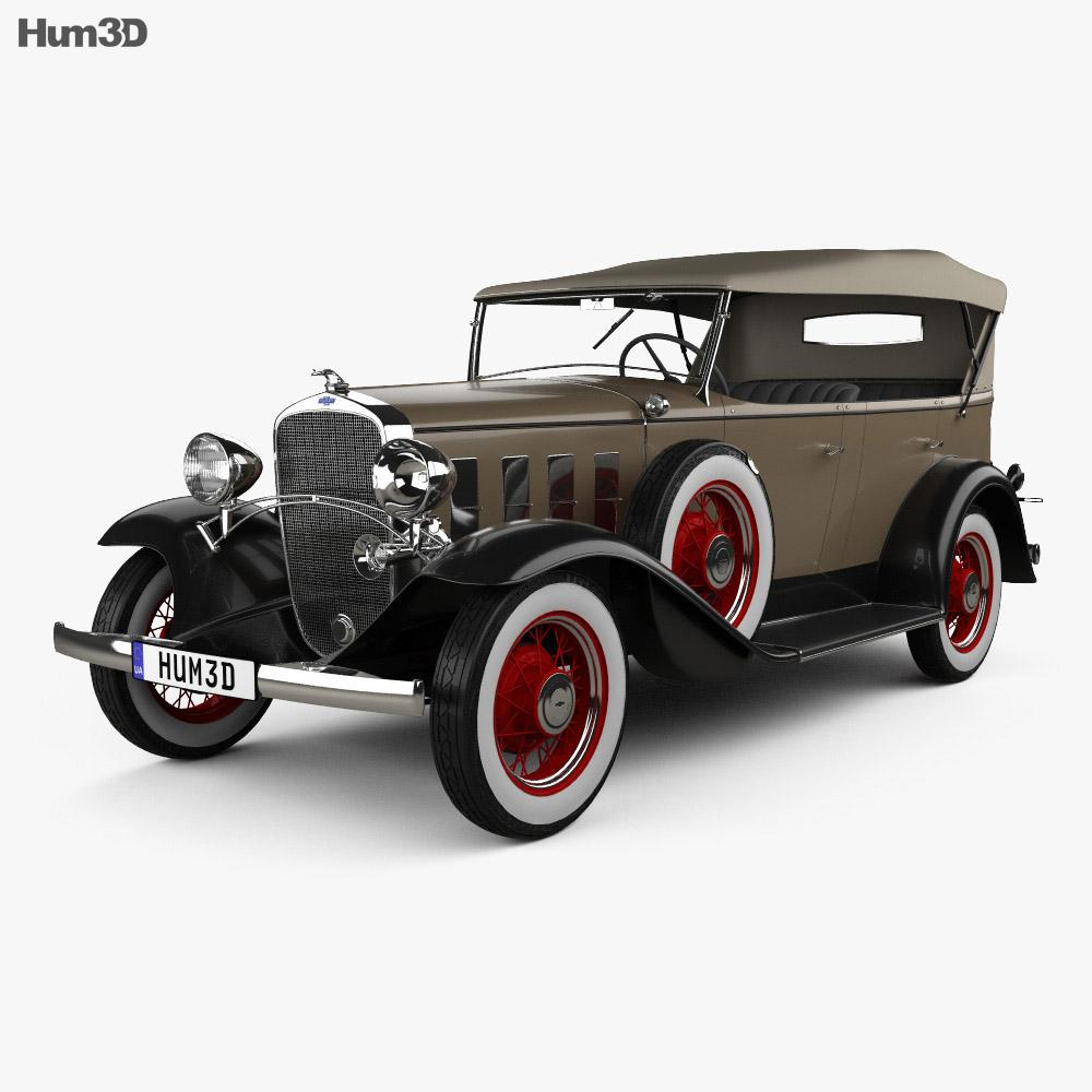 Chevrolet Confederate 4-door Phaeton 1932 3D model