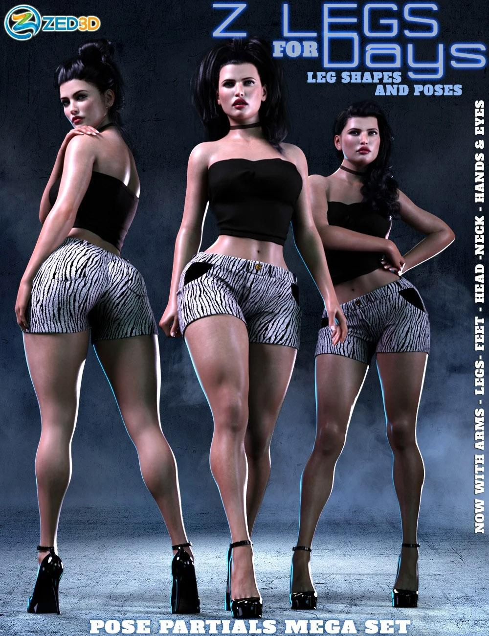 Z Legs for Days Shapes and Poses Mega Set