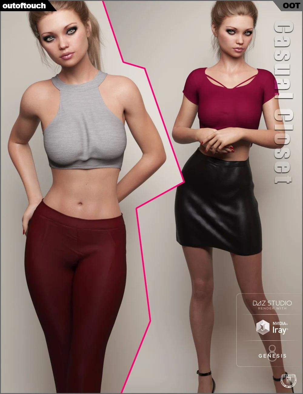 dForce Casual Closet for Genesis 8 Female(s)