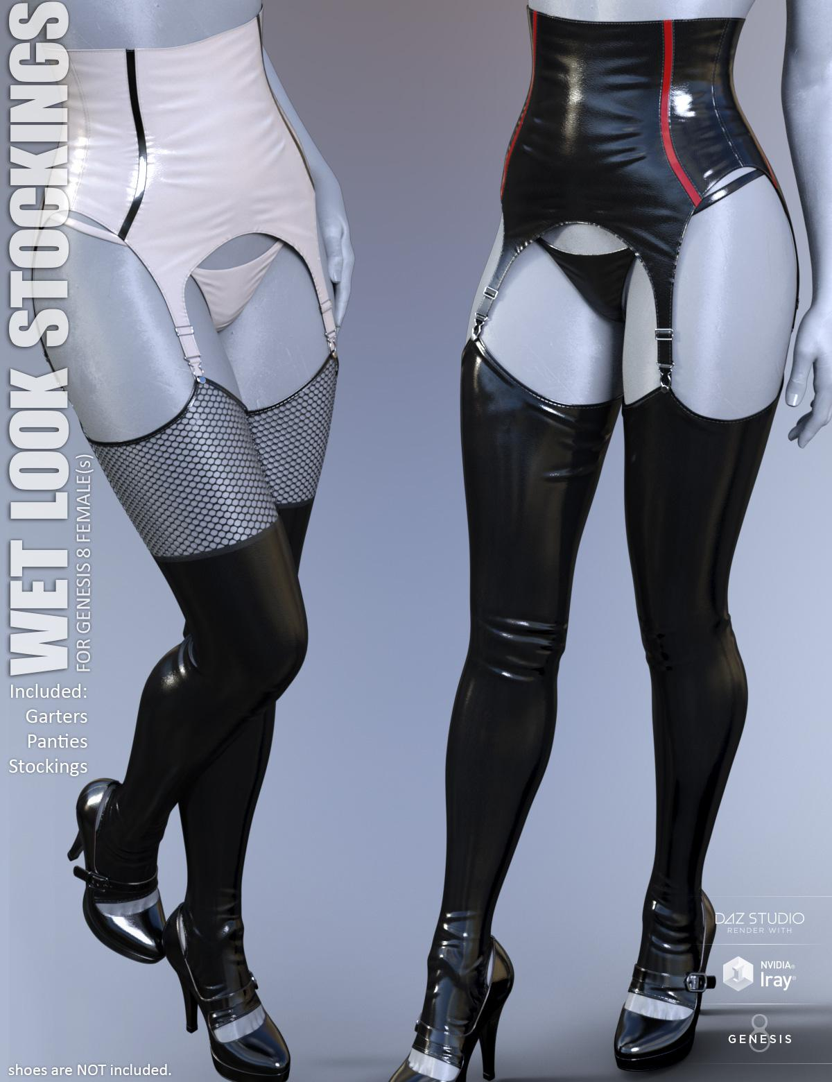 Wet Look Stockings for Genesis 8