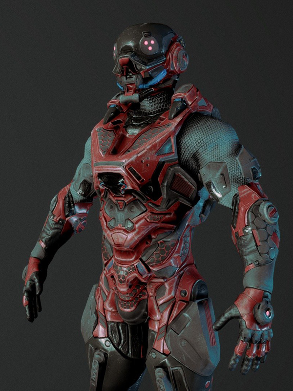 Cybernetist Game Ready Rigged Character