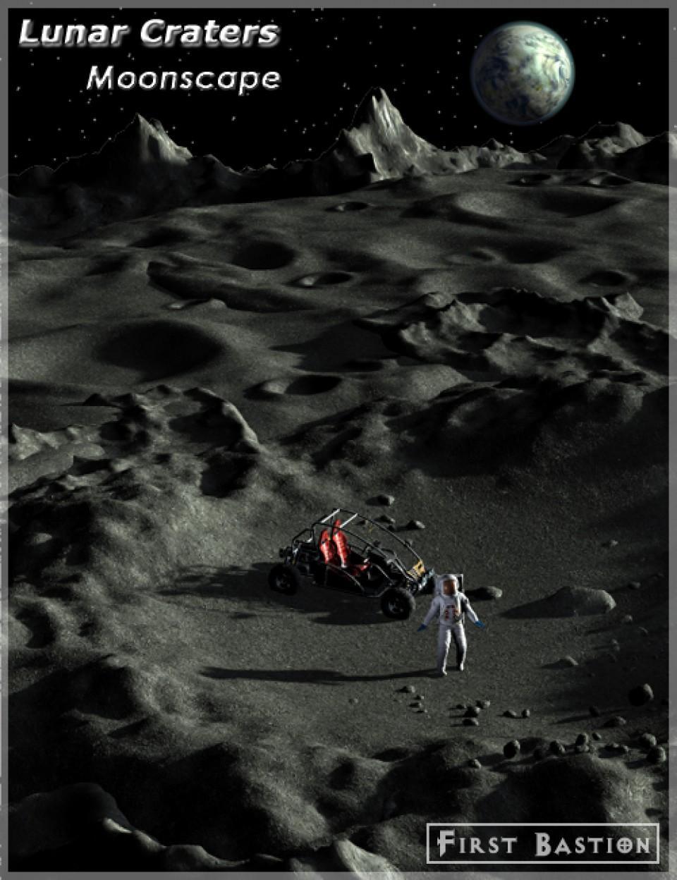 Lunar Craters Moonscape