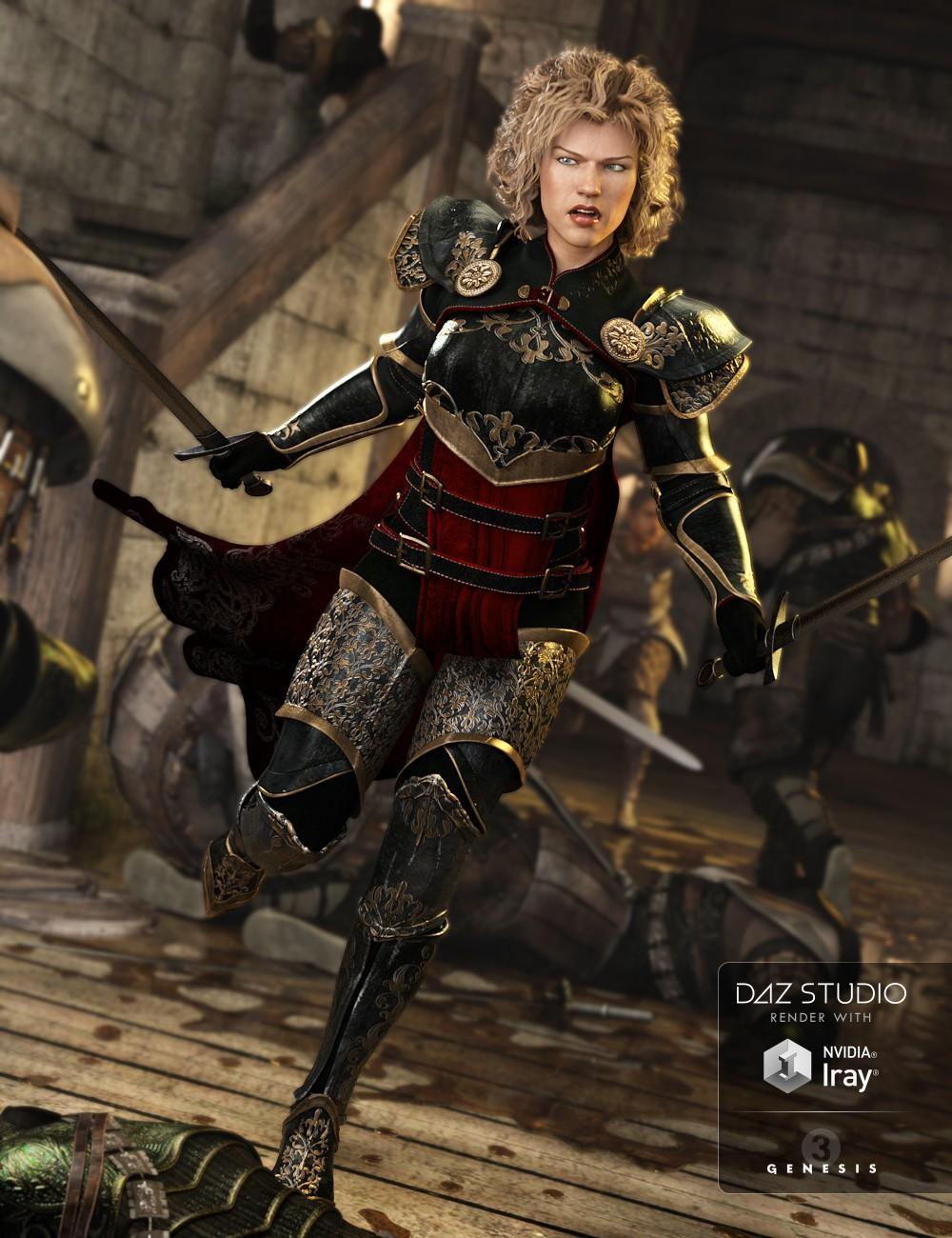 Chevaleresse Armor for Genesis 3 Female(s)