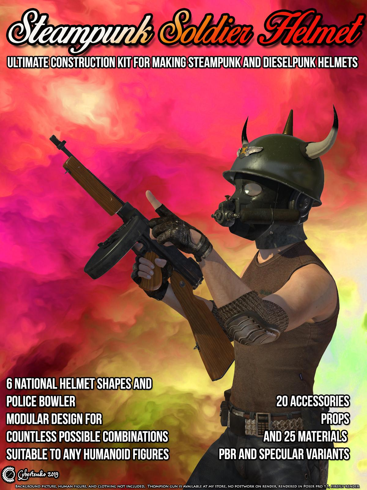 Steampunk Soldier Helmet
