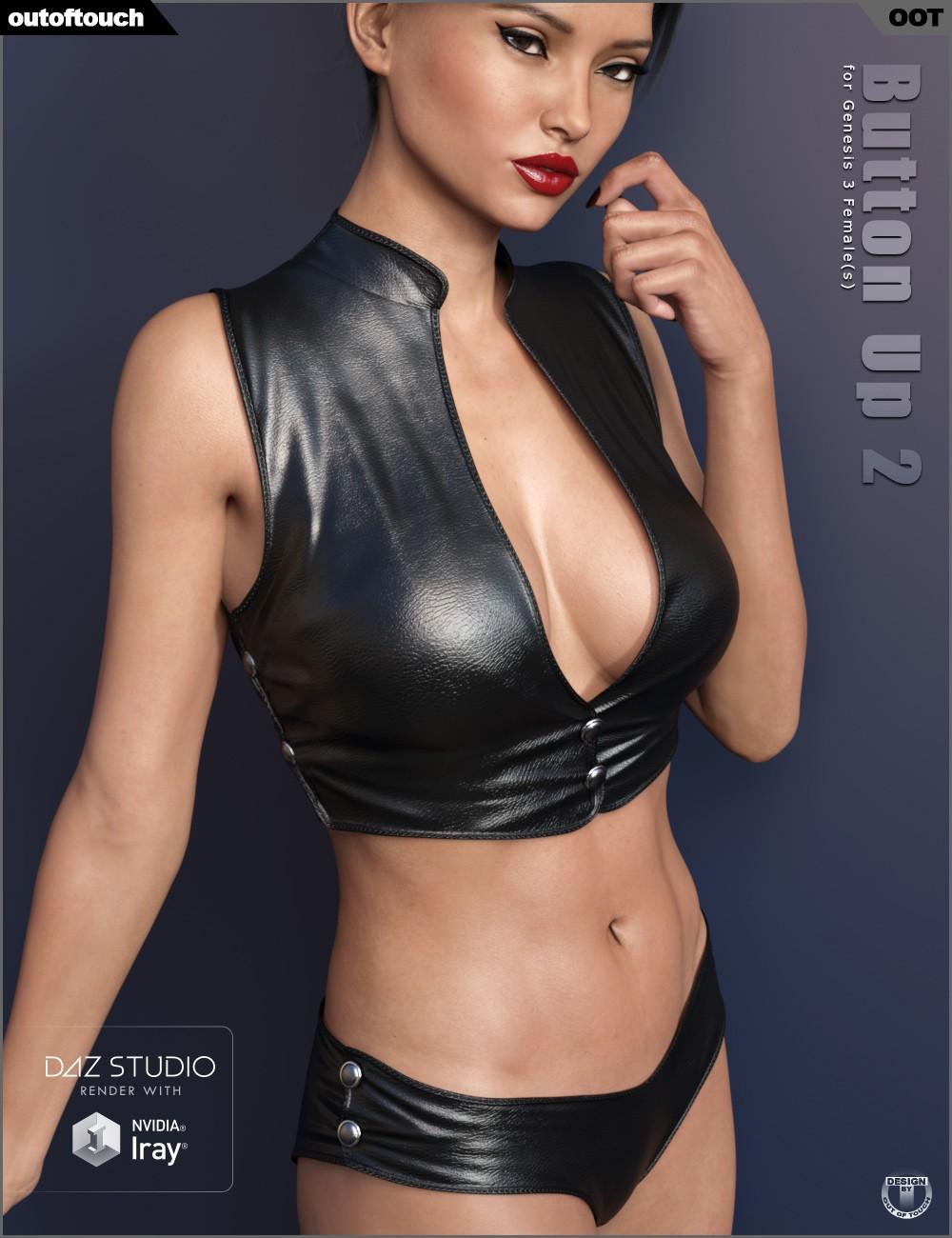 Button Up 2 Outfit for Genesis 3 Female(s)