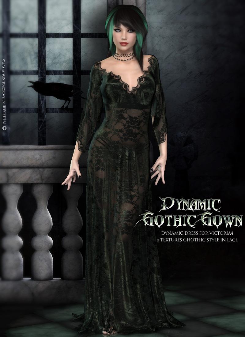 Dynamic Gothic Gown V4