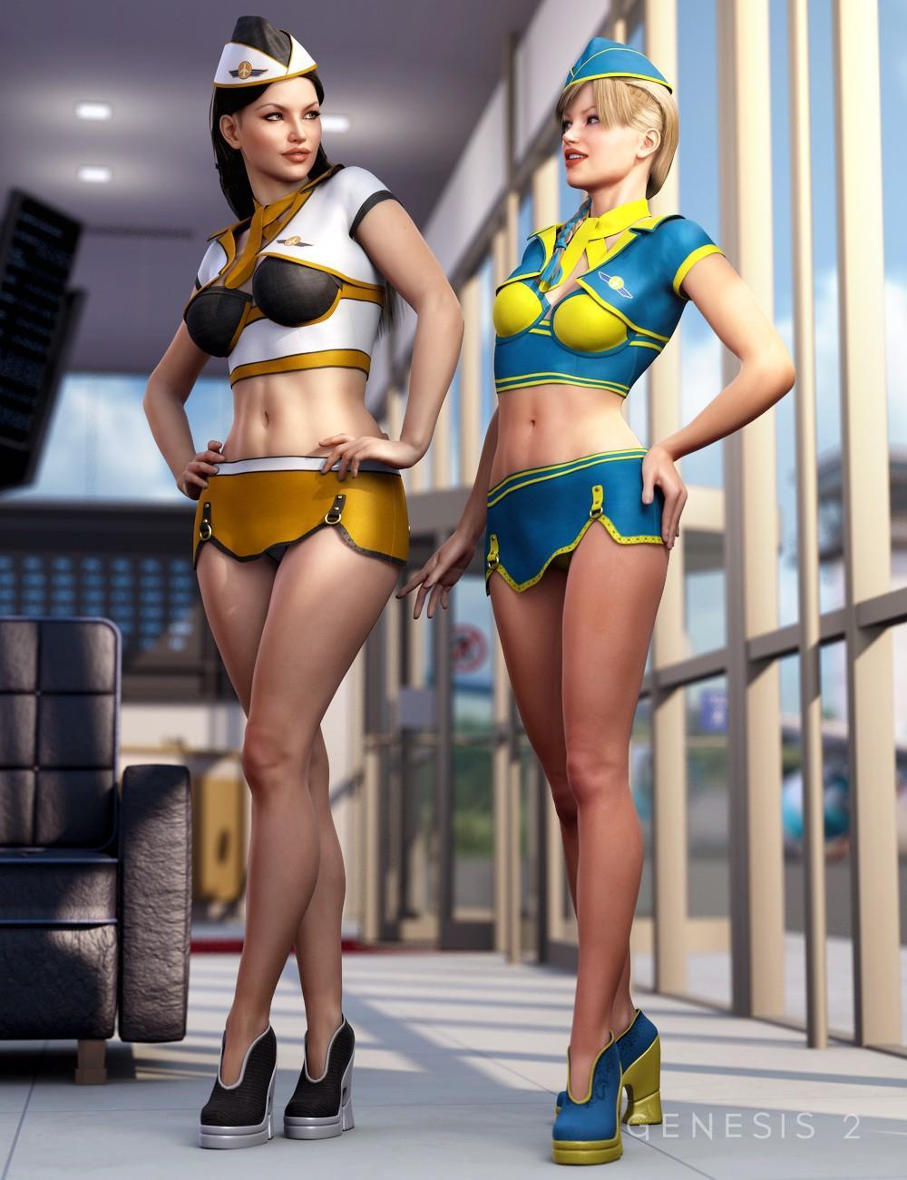 Sexy Stewardess Textures