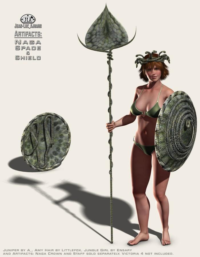 Artifacts: Naga Spade and Shield
