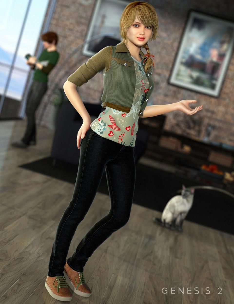 Ciao Bella Outfit for Genesis 2 Female(s)