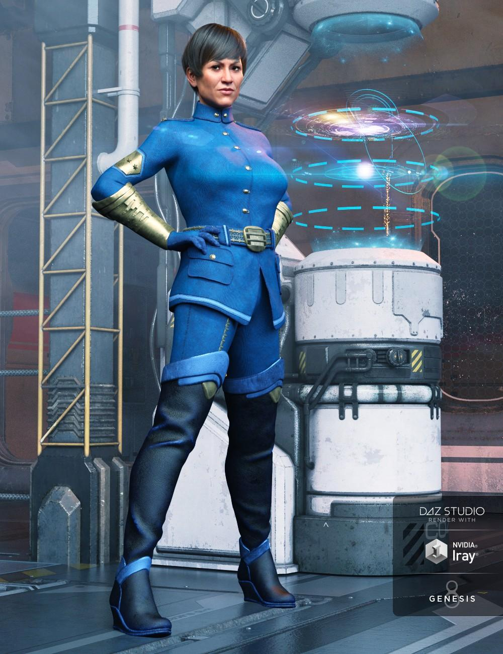 Sci-fi Officer Outfit for Genesis 8 Female(s)