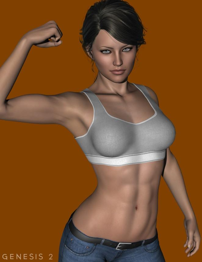 FM Muscle Flexing for Genesis 2 Female(s)