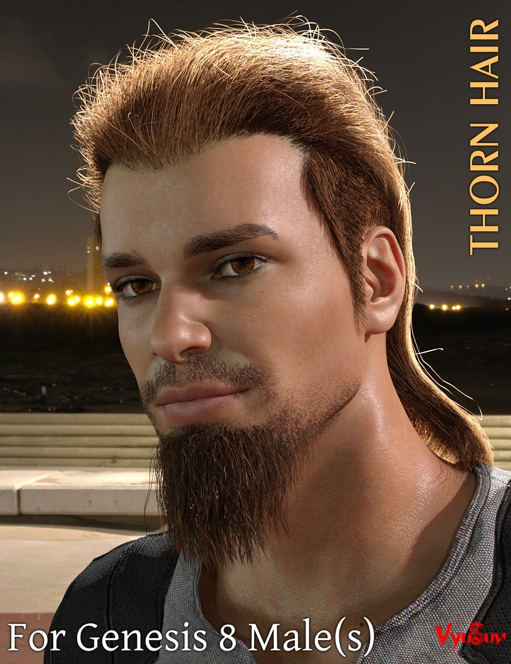 Thorn Hair and Beards for Genesis 8 Male(s)