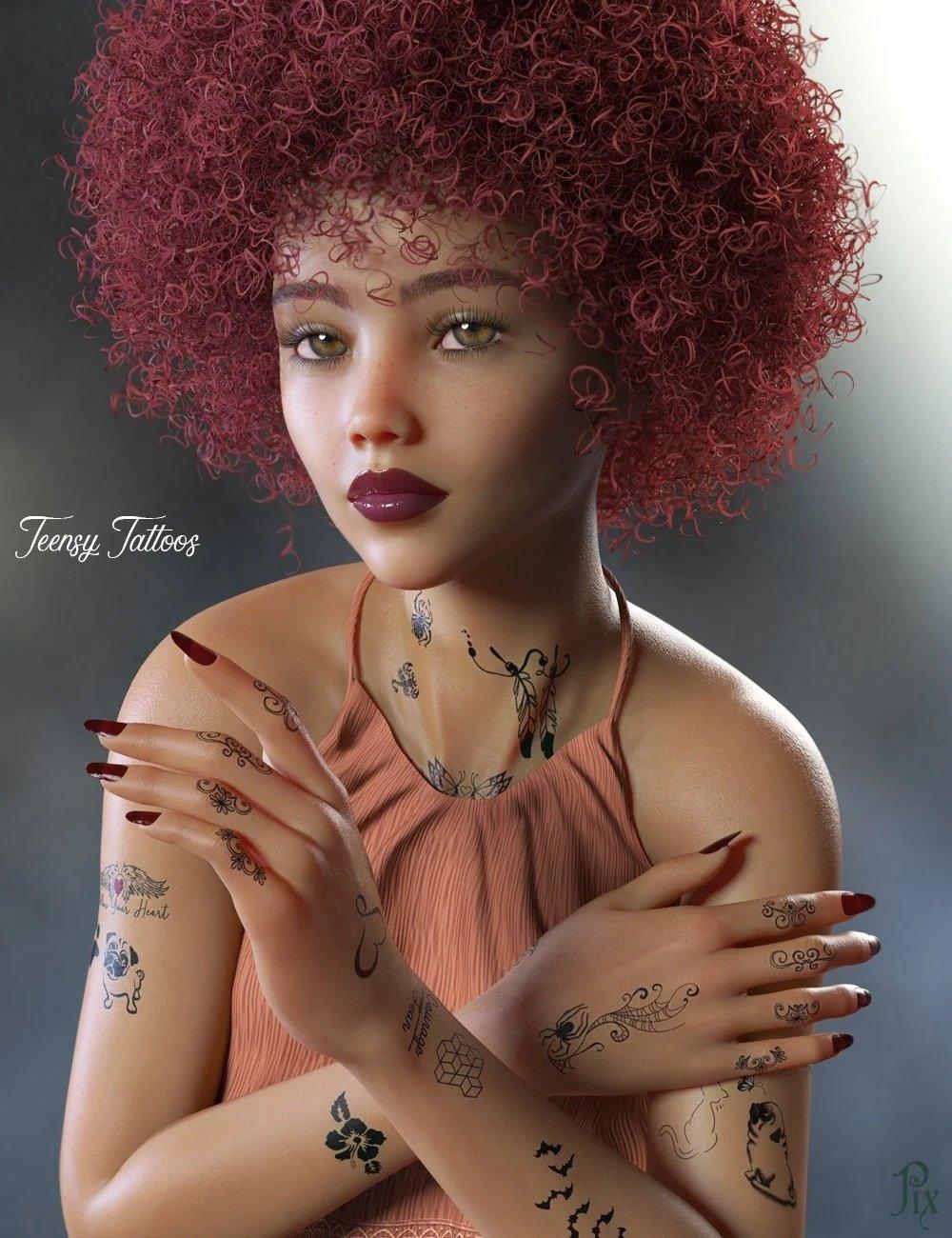 Teensy L.I.E. Tattoos for Genesis 3 and 8