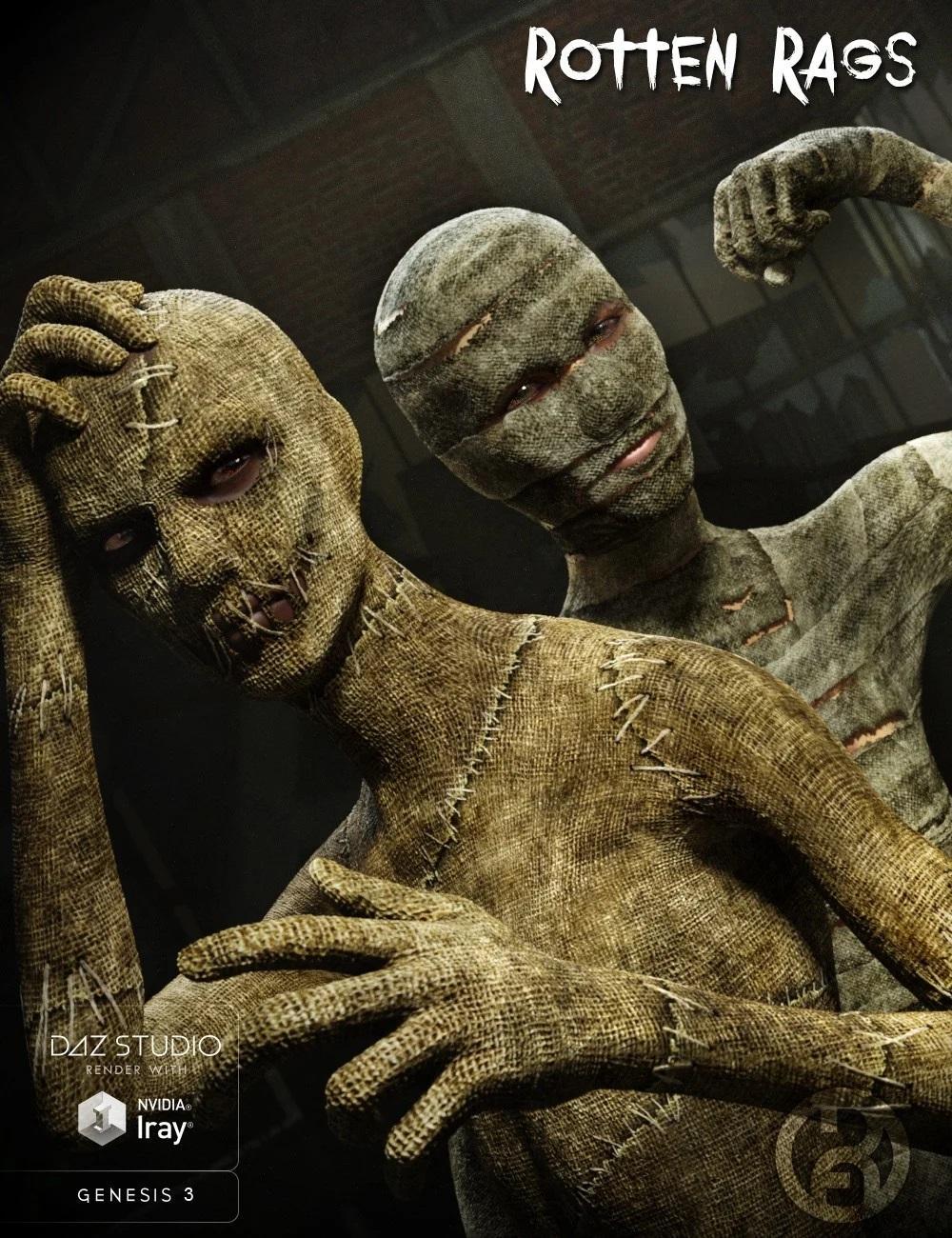 Rotten Rags for Genesis 3 Male Super Bodysuit