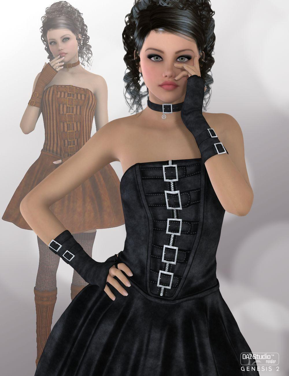 Evaleene Outfit for Genesis 2 Female(s)