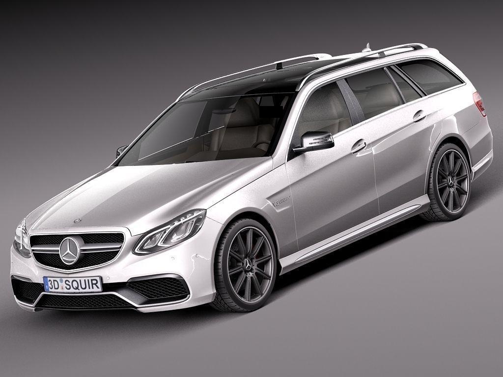 Mercedes-Benz E63 AMG Estate 2014 3D model