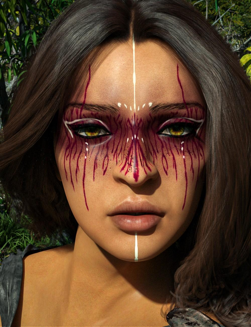 D.E.M. Painted Tribal Makeup for Genesis 8 Female
