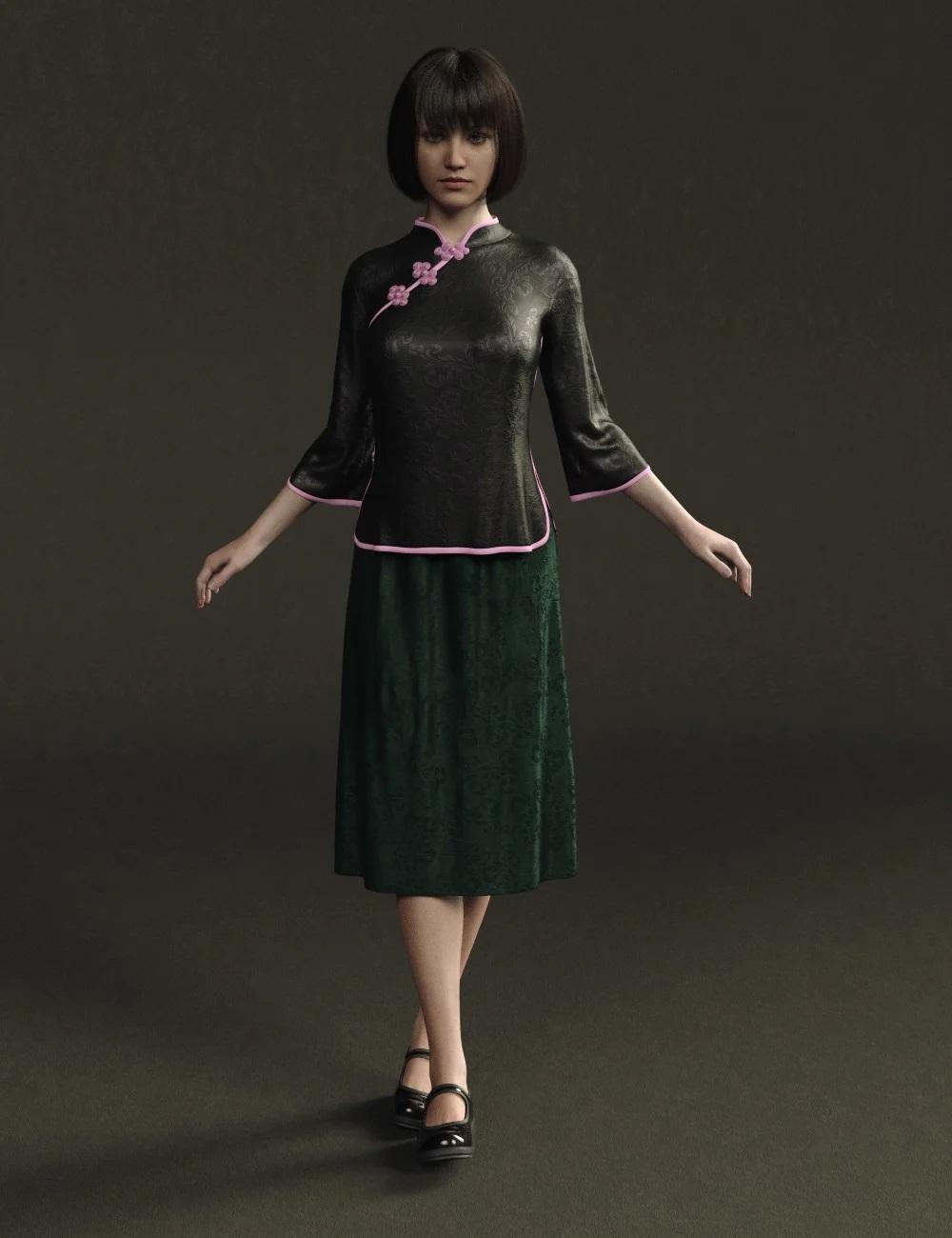 Hann Mei Outfits for Genesis 8