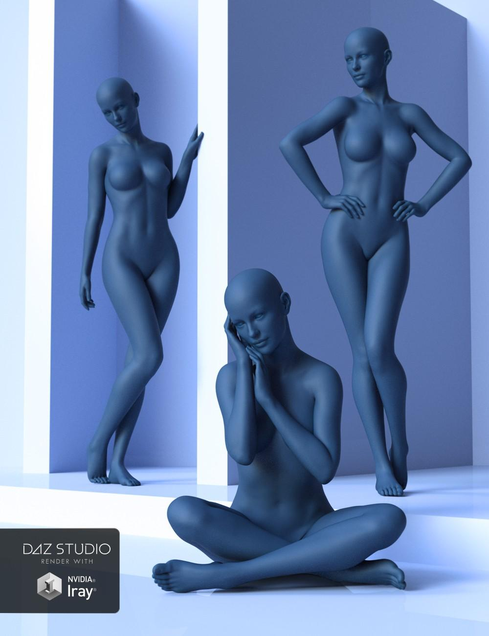 Shades of Blue Poses for Genesis 8 Female and Victoria 8