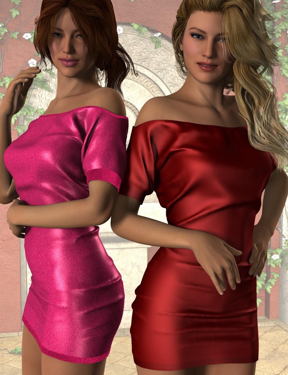 Short Sleeve Mini Dress for Genesis 2 Female(s)