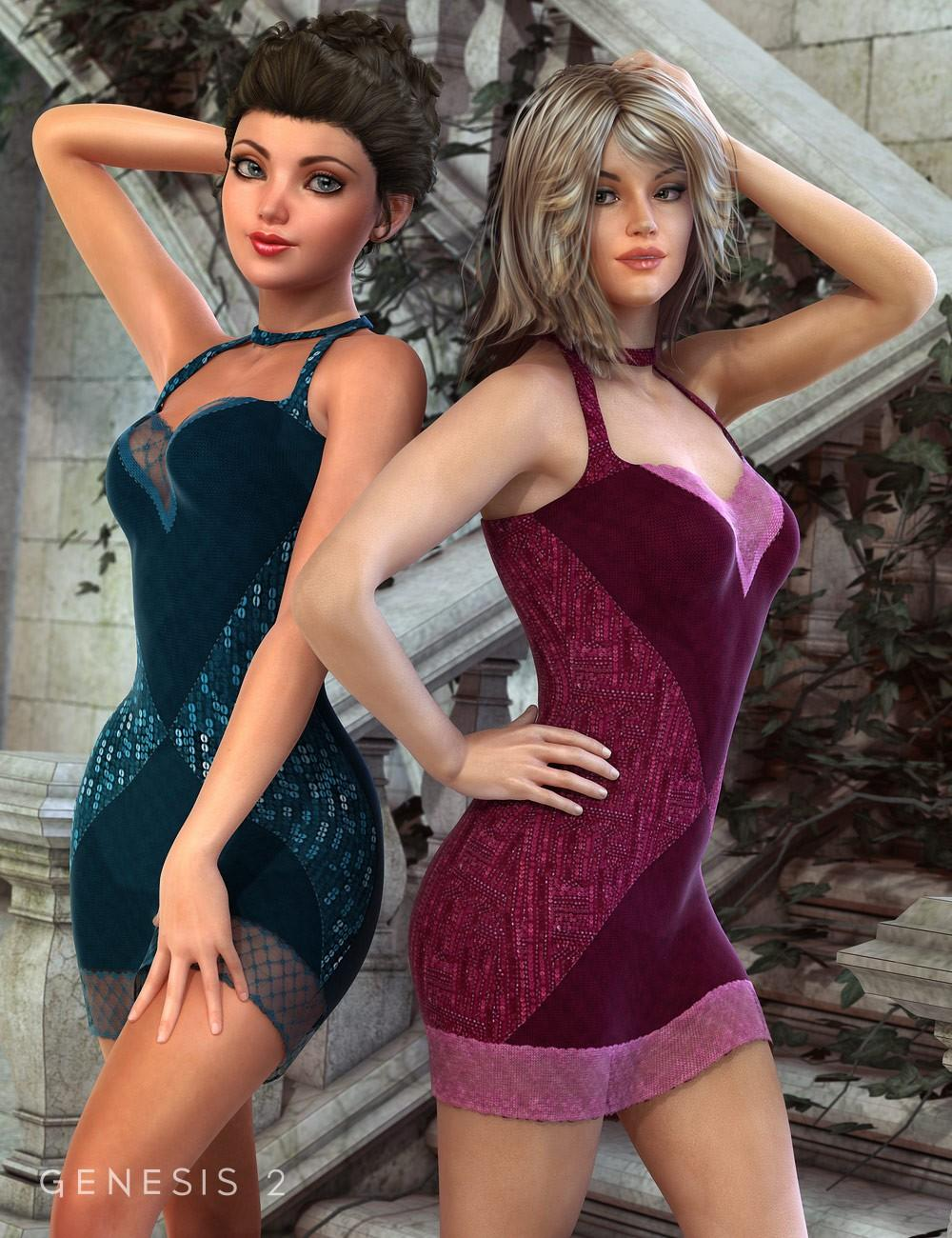 Teddy Dress for Genesis 2 Female(s) Textures