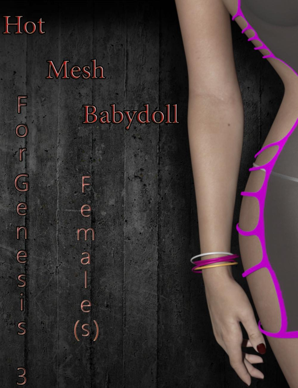 Hot Mesh Babydoll For Genesis 3