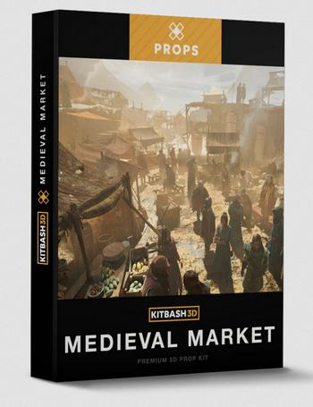 Kitbash3D: Props: Medieval Market
