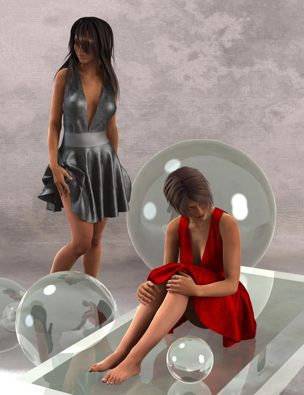 Playful Flirt Dress for Genesis 2