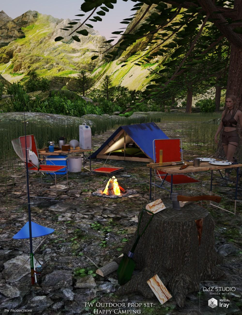 PW Happy Camping Outdoor Prop Set