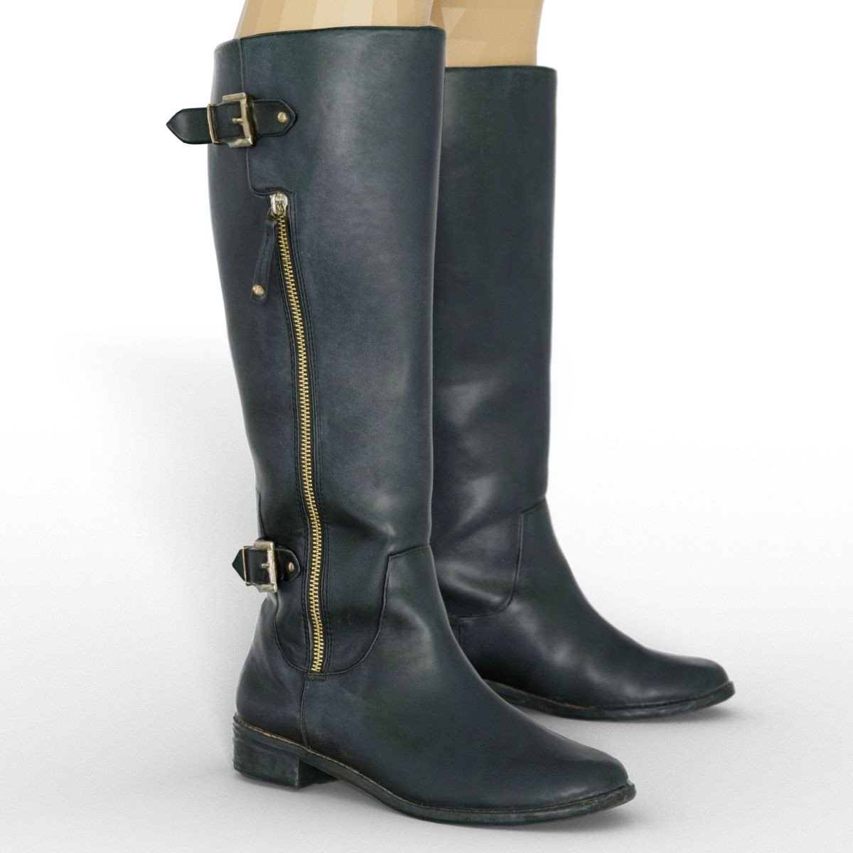 Black Leather Boots for Genesis 8