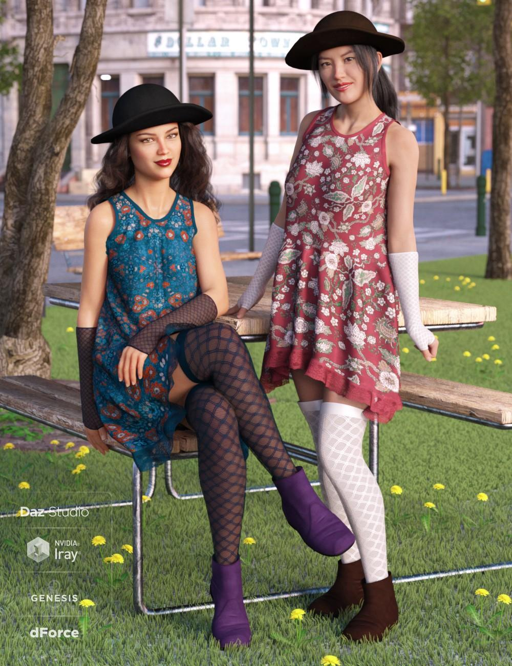 dForce Boho Days Outfit Textures (OziChick)
