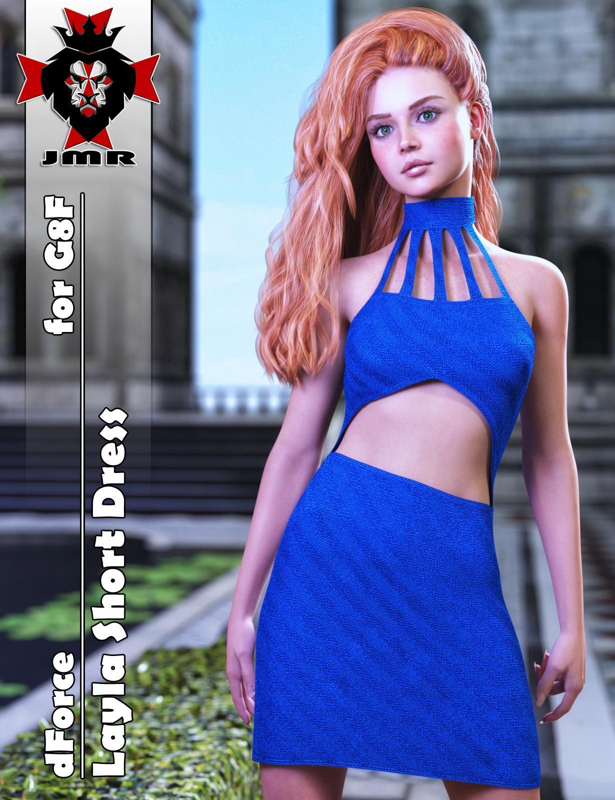 JMR dForce Layla Short Dress for G8F