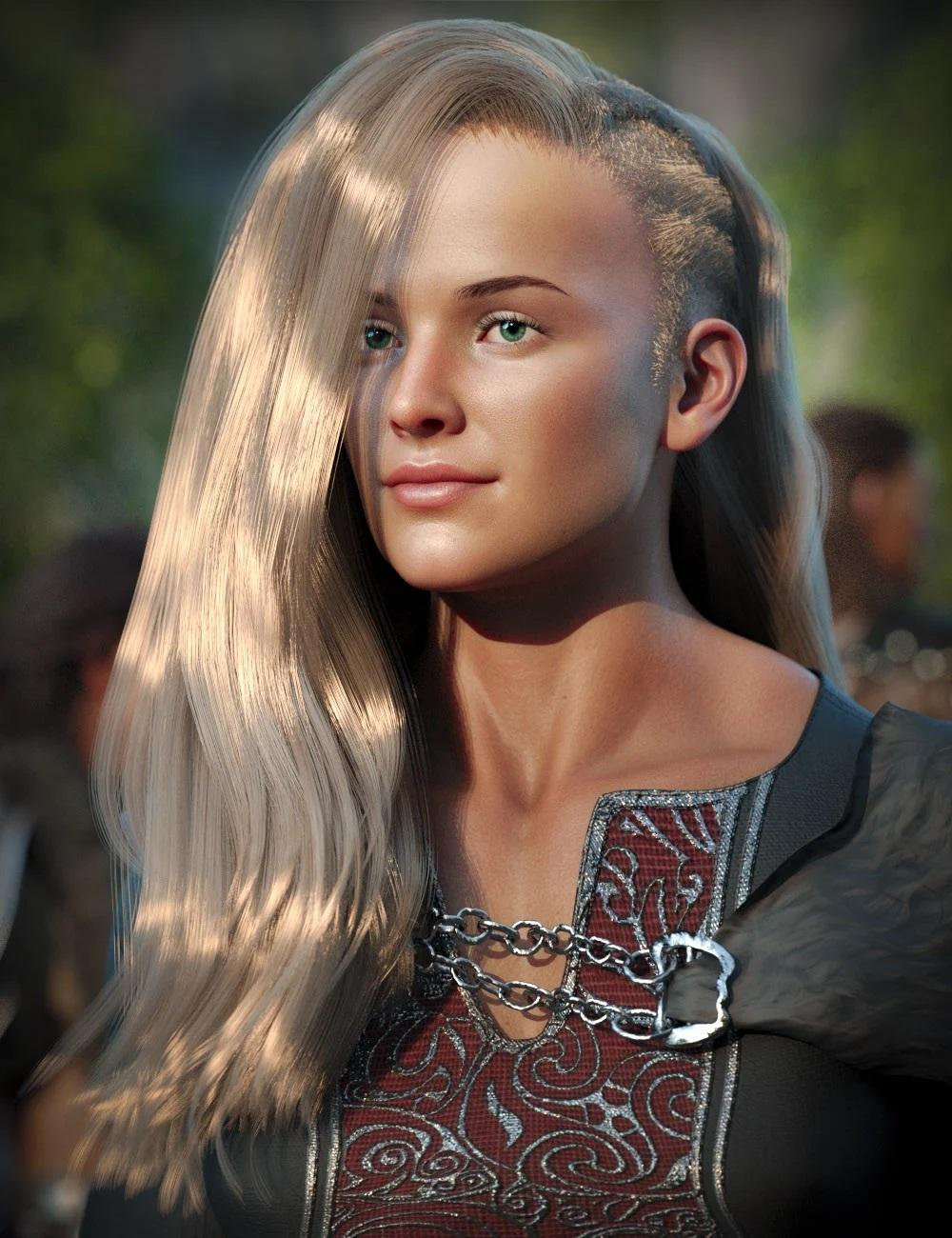 Dynah Hair for Genesis 8 Females