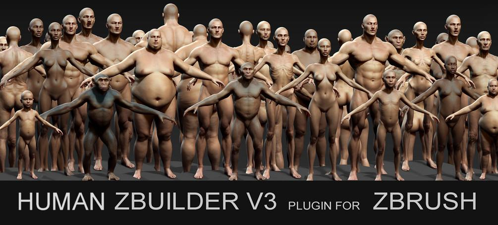 Human ZBuilder v3 plugin for Zbrush