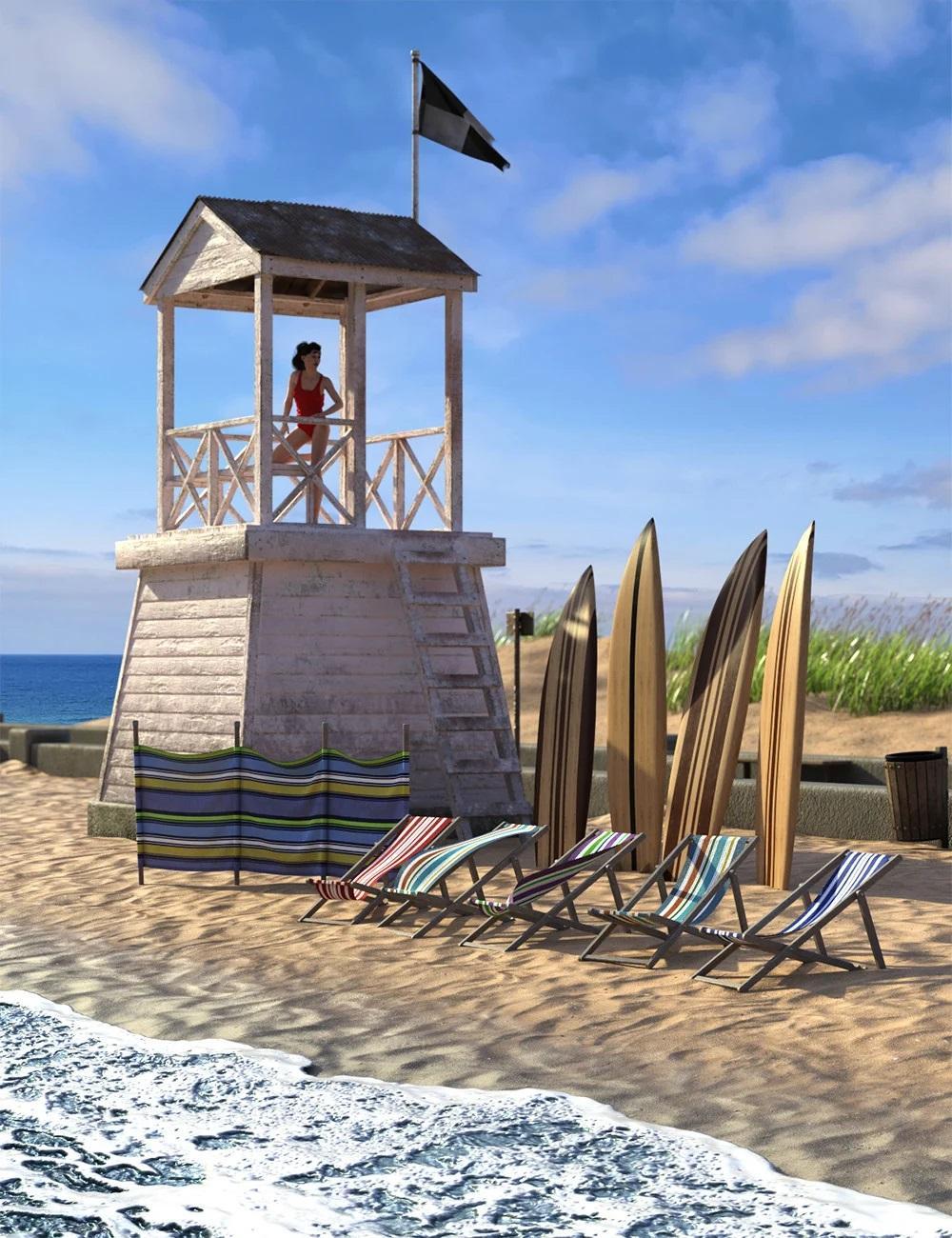 Seaside Walkway Vignette