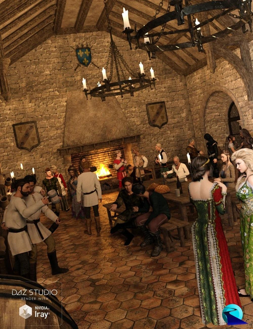 Now-Crowd Billboards - Medieval City Life