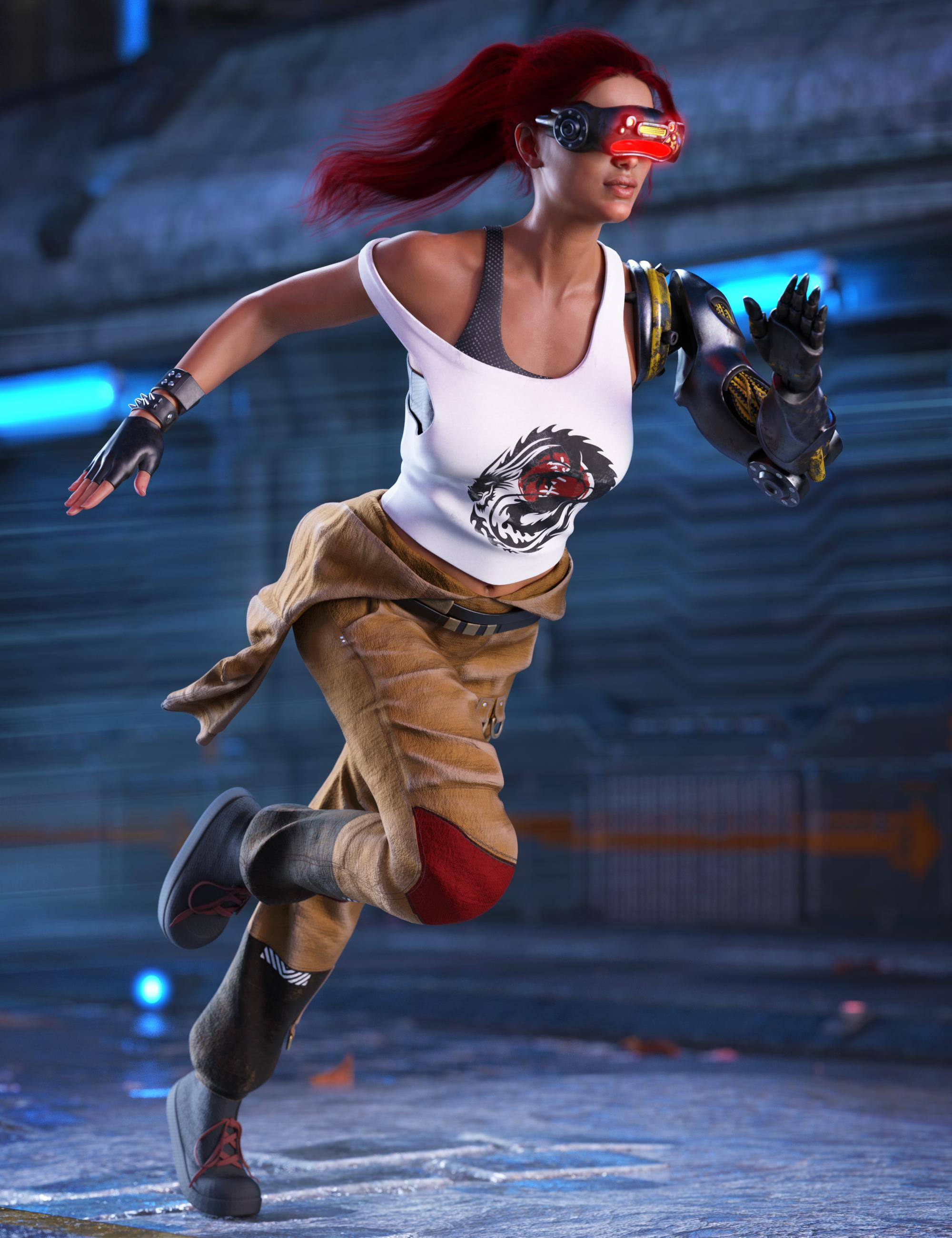 dforce Augmentation Outfit for Genesis 8 Female(s)