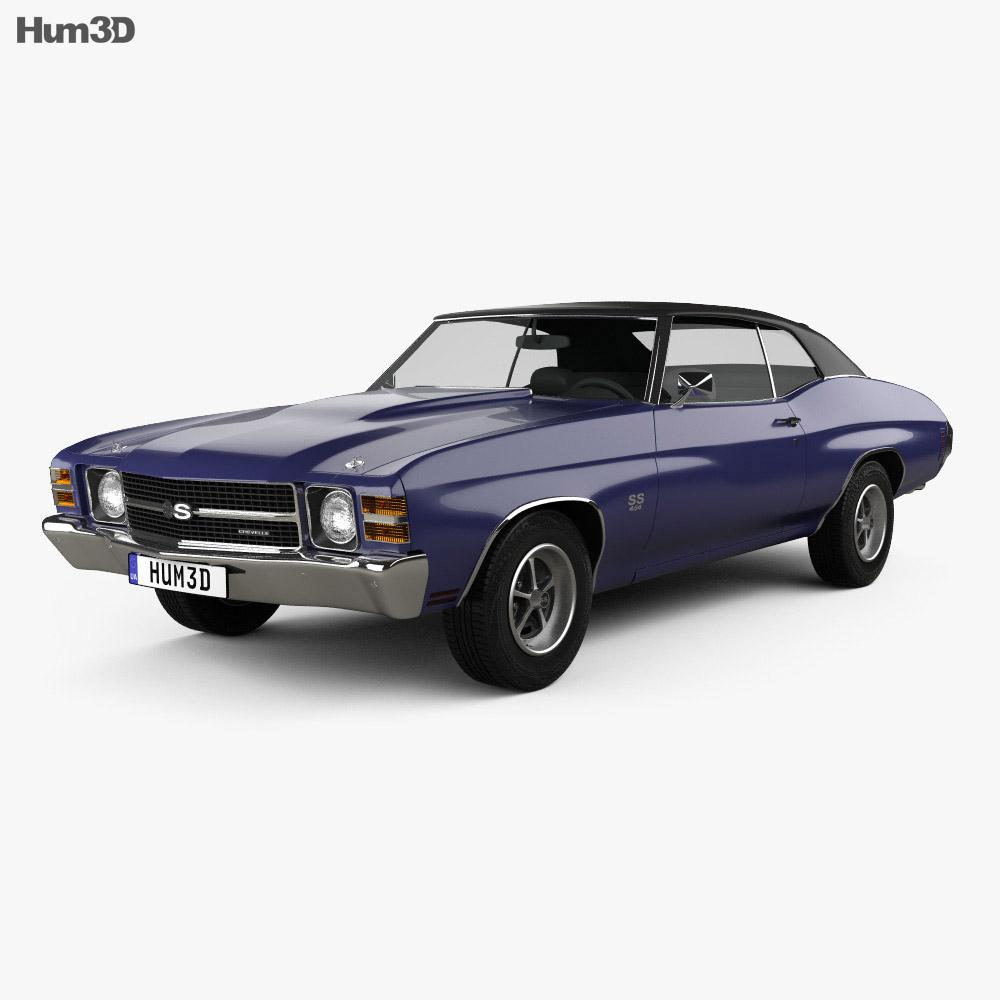 Chevrolet Chevelle SS 454 LS5 convertible 1971 3D model