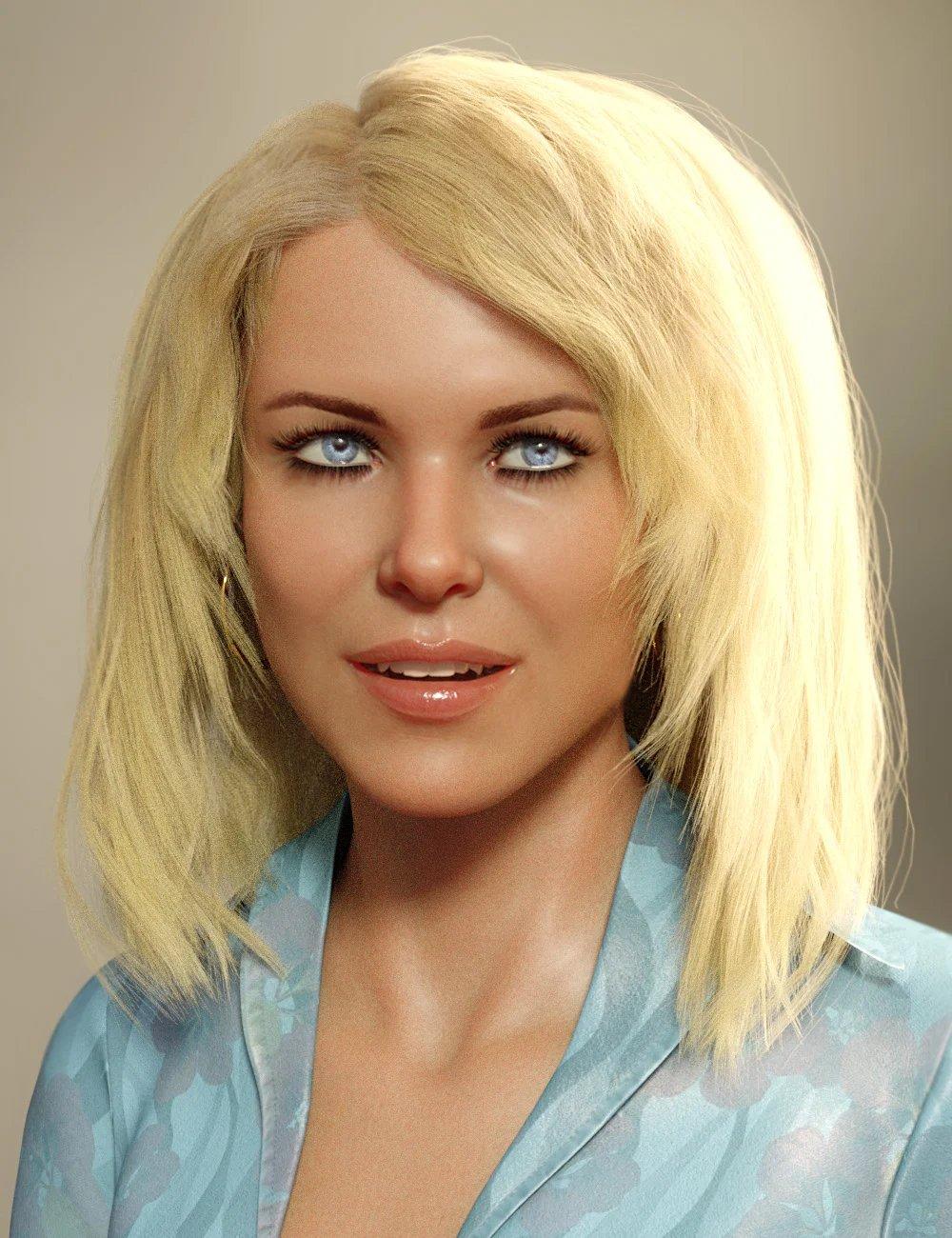 dForce Lynette Hair for Genesis 8 Females