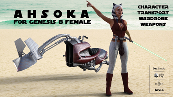 Ahsoka For Genesis 8 Female and Daz Studio