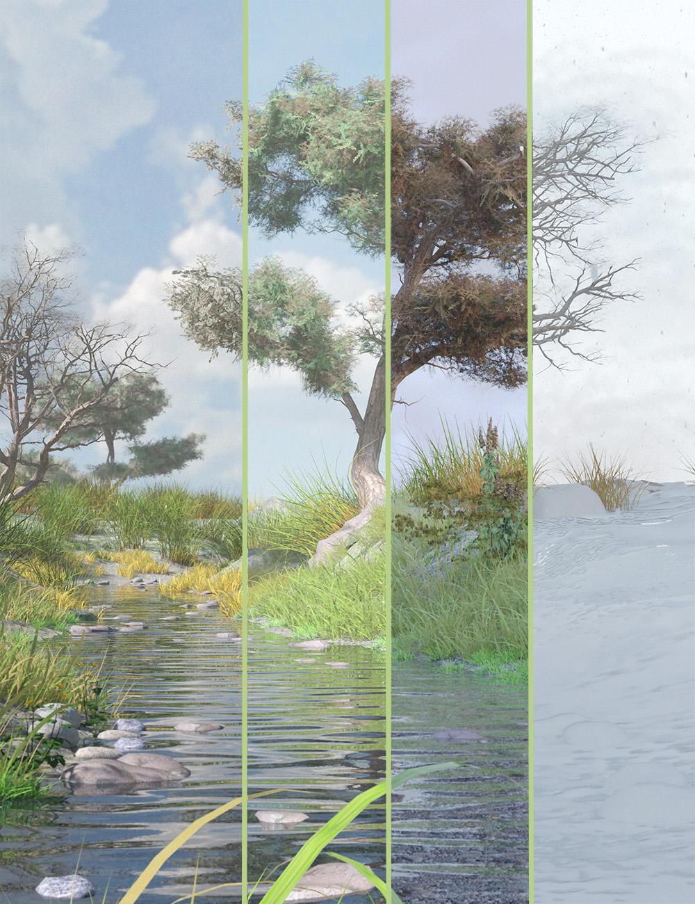 Hawthorn Trees for Daz Studio and Iray