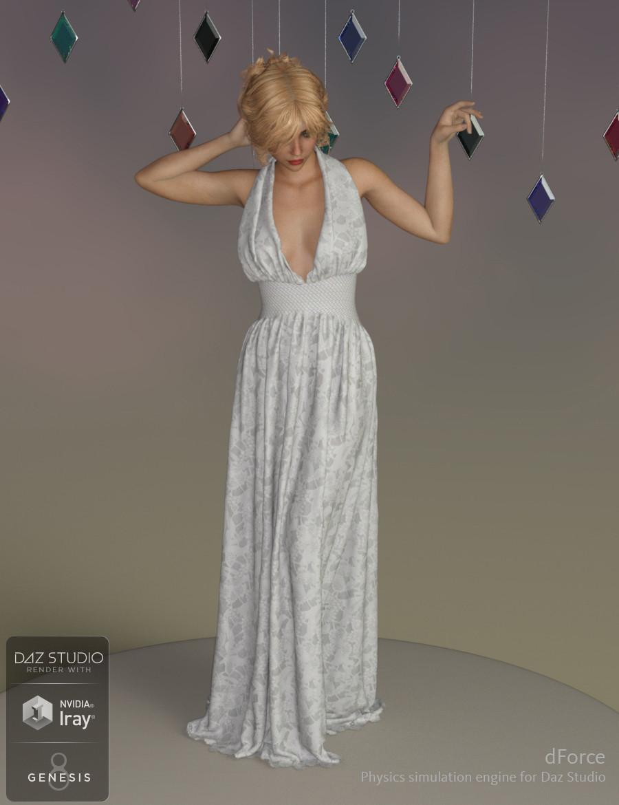dForce Genevieve Gown for Genesis 8 Female(s)