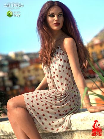 dForce Sweet Mini Dress for Genesis 8 Female(s)
