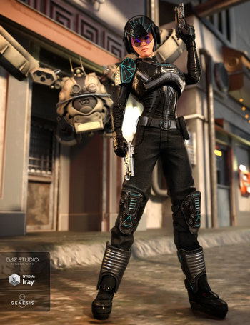 Sci-Fi Battle Outfit for Genesis 8 Female(s)