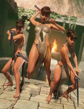 Sword Poses for Genesis 8 Female