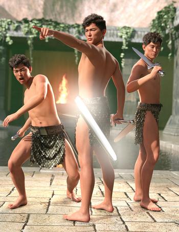 Sword Poses for Genesis 8 Male