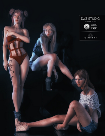 Demure Poses, Expressions and Lights for Genesis 3 Female(s)