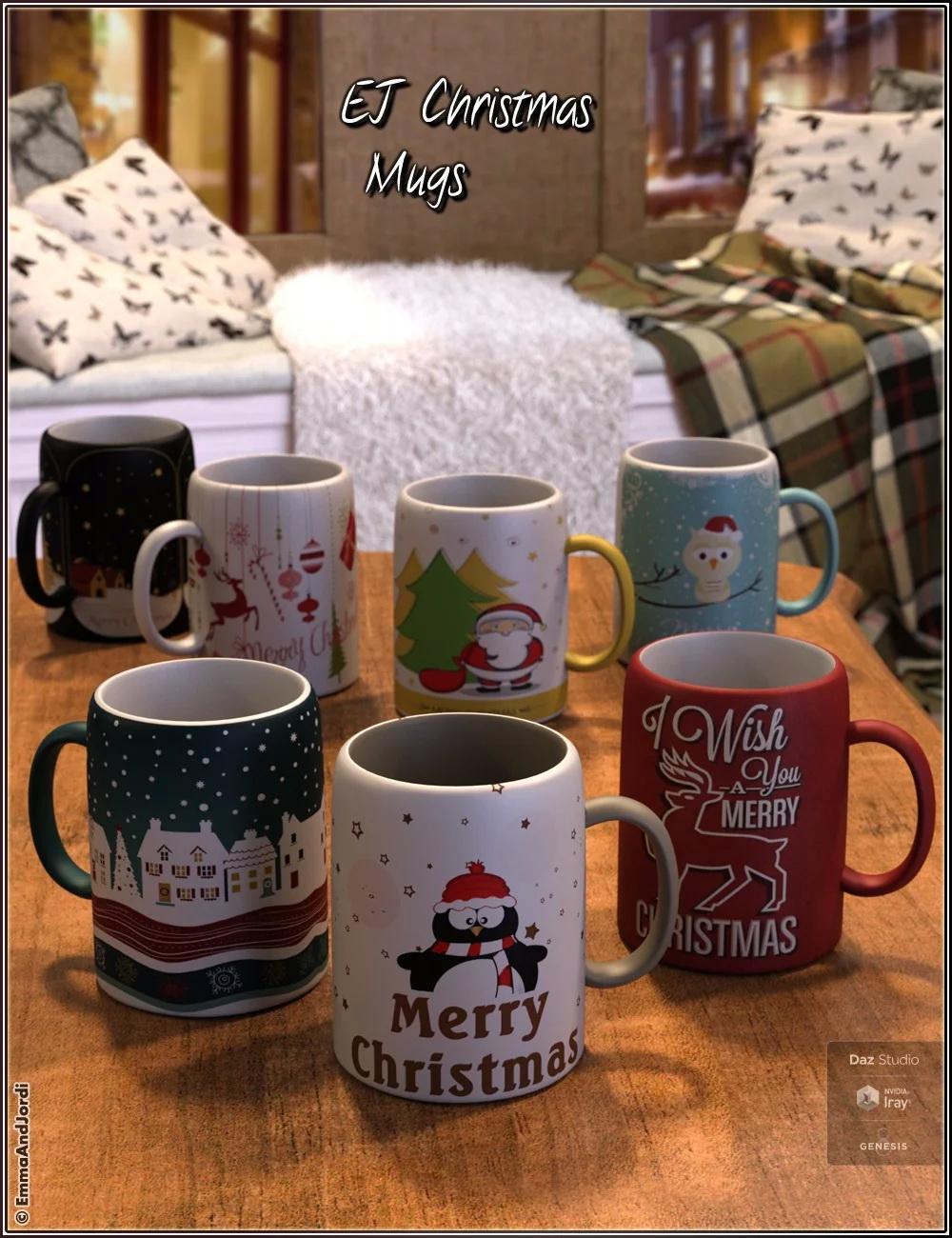 EJ Christmas Mugs